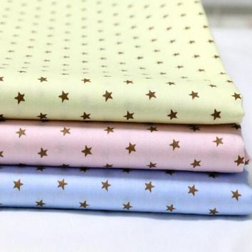 New 3pic/lot 40x50cm star Cotton Fabric Sewing Quilting Patchwork quilts Tissue baby Bedding Pillow tecidos DIY Doll cloth xl5