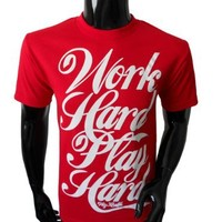 Wiz Khalifa Work Hard Play Hard Mens T-Shirt