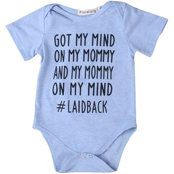 Got My Mind On My Mommy and Mommy On My Mind Printed Baby Romper