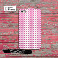 Emoji Pink Bow Funny Emoticon Symbol Custom iPhone 4 and 4s Case and Custom iPhone 5 and 5s and 5c Case