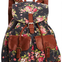 Printed Canvas Backpack - Multi
