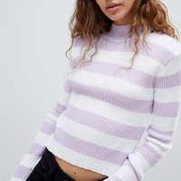 E.L.K Lightweight Knit Fitted Jumper In Stripe at asos.com