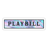 'playbill pastel design ' Sticker by jayymarie