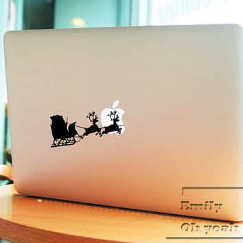 Deer Christmas Decal laptop MacBook pro decal MacBook decal MacBook air sticker 061