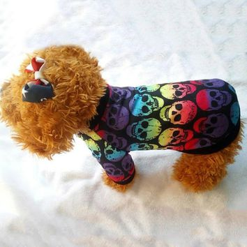 Rainbow of Skulls Jacket for Small Dogs/Cats