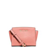 Selma Mini Saffiano Messenger Bag, Pale Pink - MICHAEL Michael Kors