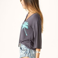 V NECK PALM TREE TOP