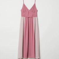 V-neck dress - Dusky pink - Ladies | H&M GB