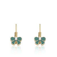 Little Miss Twin Stars LMTS BOW BEAUTIFUL Turquoise Bow Earring Children's Jewel
