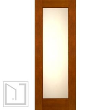"2-1/4"" Thick Contemporary Mahogany Door Low-E Glass"