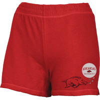 Arkansas Razorbacks - Glitter Logo Girls Juvy Athletic Shorts