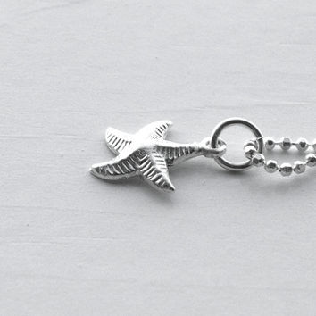Starfish Necklace, Sterling Silver Jewelry, Small Starfish Necklace, Charm Necklace, Starfish Jewelry, Starfish Charm, Starfish Pendant