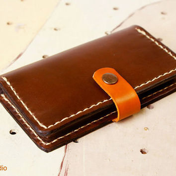 iPhone 4s Wallet Case Wallet leather Hand Stitched in by rntn