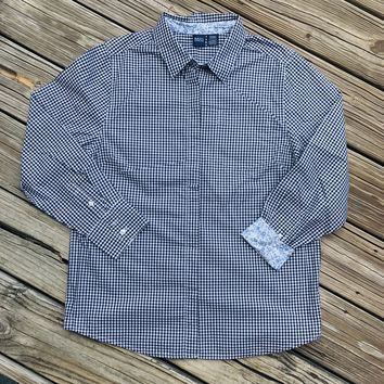 VINTAGE BASIC EDITION Women's Size Medium Gingham Button Down Shirt