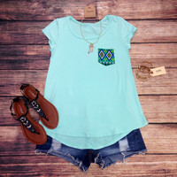 NOT THAT SIMPLE TEE - MINT – LaRue Chic Boutique