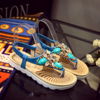 Bohemian Blue Comfortable Beach Stylish Sandals