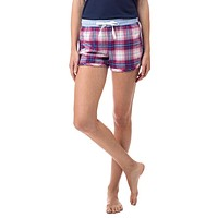 Merrytime Plaid Lounge Short in Marshmallow by Southern Tide