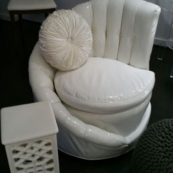 The Conch Art Deco 1920's Occasional Chair