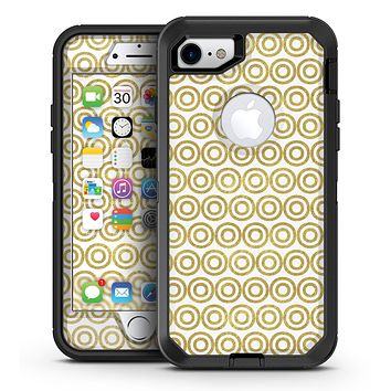 White and Gold Foil v8 - iPhone 7 or 7 Plus OtterBox Defender Case Skin Decal Kit
