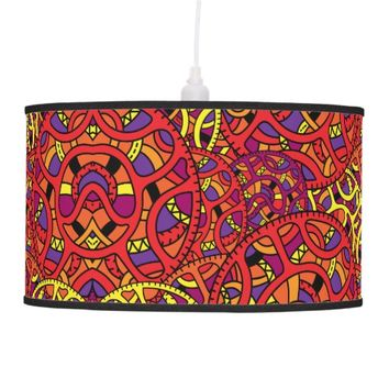 Colorful Organic Pattern Hanging Lamp