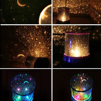 Flashing Colorful Led Star Master Star Sky Light Star Projector Lamp Night Light Lamp