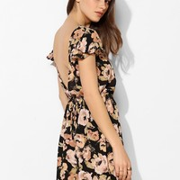 Pins And Needles Plunge-Back Fit & Flare Dress - Urban Outfitters