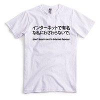 Don't Touch Me I'm Internet Famous / Funny T shirt / Chinese T shirt / Chinese Text T shirt / Unisex T shirt / Chinese Clothing /