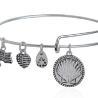 Alex and Ani style pendant charm bracelet,a perfect gift !