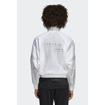 """Adidas"" Trending Women Men Stylish Personality Simple Loose Breathable Zip Cardigan Jacket Coat Windbreaker Sweatshirt White Grey I-BL-YD"
