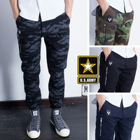 Slim Zippers Men Casual Pants [6543159043]