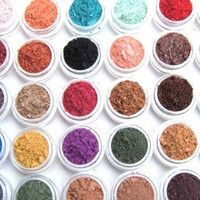 Eye Shadow Mineral Makeup - Choose Your Own - 30 Eye Colors - Eyeshadow/Eyeliner - Hand Crafted and All Natural- Makeup
