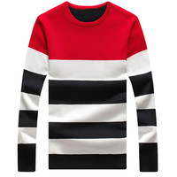 Color Block Paneled Knitted Pullover Sweater