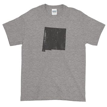 New Mexico Distressed State Shape Short-Sleeve T-Shirt
