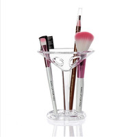 Crystal Glass Shaped Makeup Brush Organizer