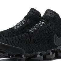 PEAP Nike Air Max Vapormax Flyknit Cdg For Women Men Running Sport Sneakers Black