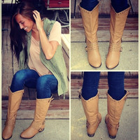 Beige Fall Boots