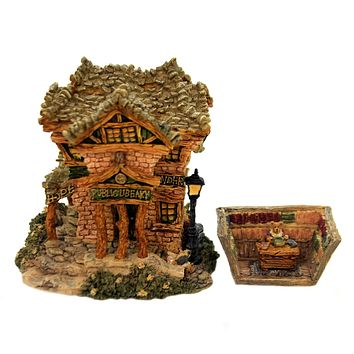 Boyds Bears Resin PUBLIC LIBEARY Resin Bearly-Built Villages 19006 Rfb