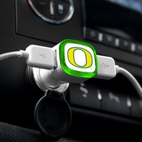 NCAA Oregon Ducks Car Charger, White