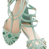 ModCloth Pastel Dew the Honors Sandal in Mint