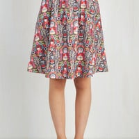 Folk Art Mid-length A-line Flaunts Upon a Time Skirt by ModCloth