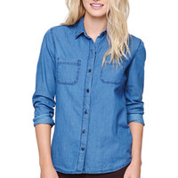 Bullhead Denim Co Chambray Utility Shirt at PacSun.com