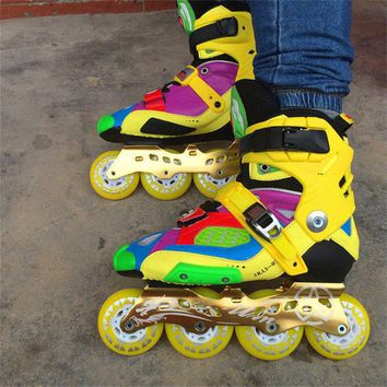 Slide Recommend Professional Inline Skates for Adult Sliding Skating Patines with Durable PU Wheels For SEBA High Light HL HV