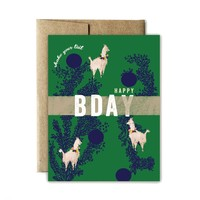 FERME A PAPERIE LLAMA SHAKE YOUR TAIL BIRTHDAY CARD