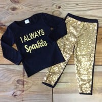 "Infant ""I Always Sparkle"" Outfit"
