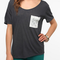 Daydreamer LA Lace Pocket Tee