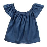 Tops T-shirt Off Shoulder Tees Girl Clothes Toddlers Kids Baby Girls Clothing Tops Pullover Short Sleeve