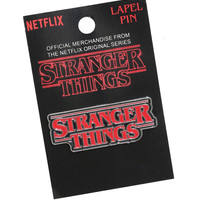 Stranger Things Logo Enamel Pin