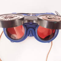 Steampunk Goggles!  Blue Steampunk  goggles with fun steampunk elements added!