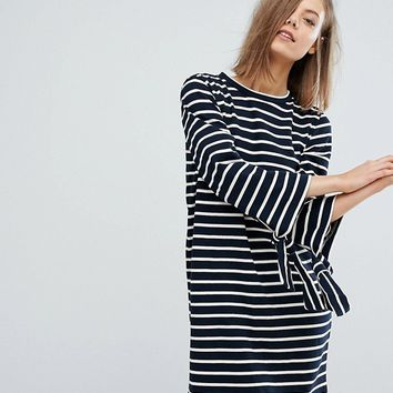 Warehouse Stripe Shift Dress at asos.com