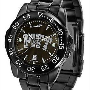Pittsburgh Panthers Mens Fantom Watch Gunmetal Finish Black Dial